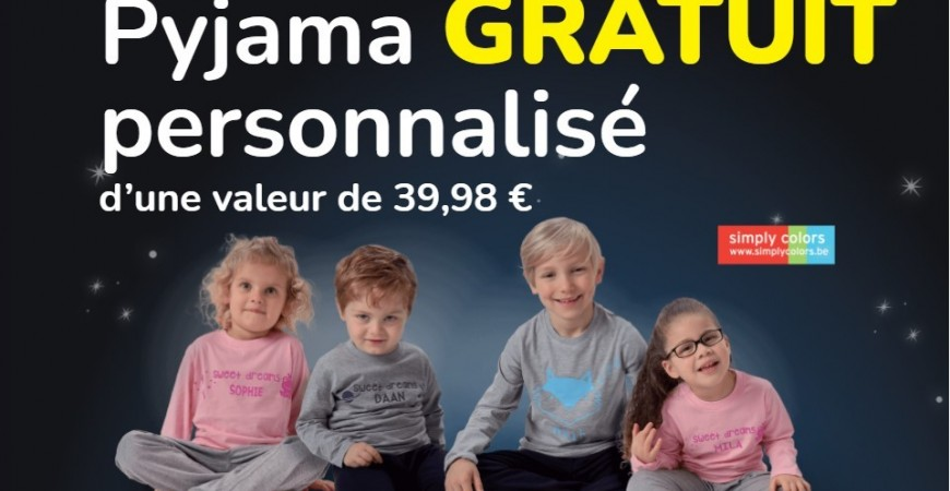 Free product - personalized children's pajamas