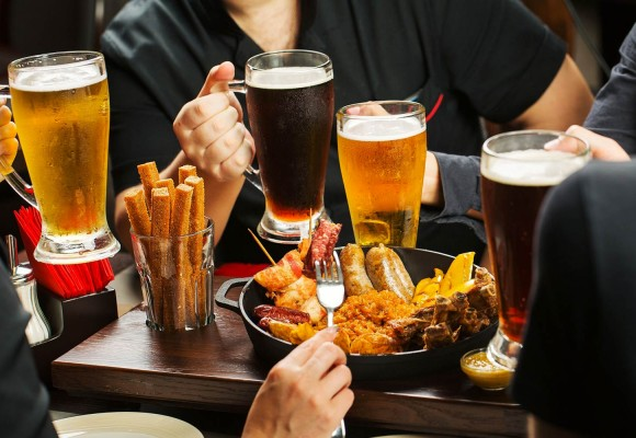Types of beer and variety of dishes to accompany this popular drink
