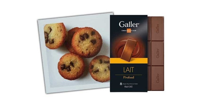 Chocolate Chip Financiers Galller lait profond - Galler muffins Recipe