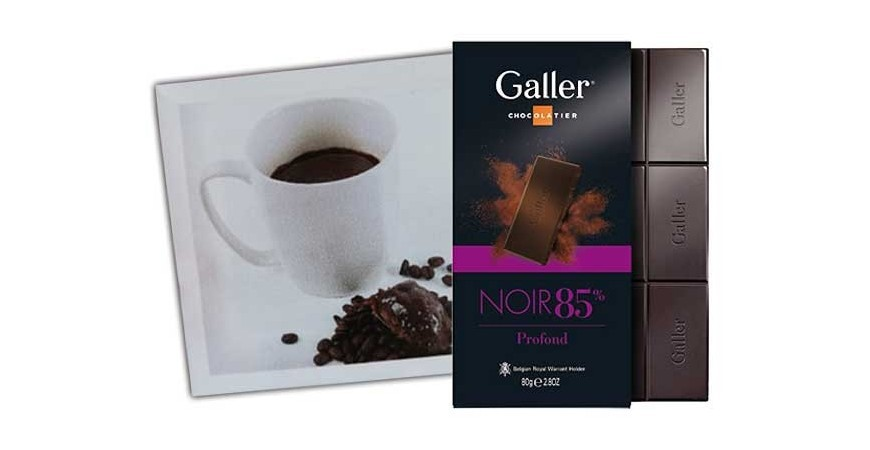 Galler dark chocolate profound 85% mugcake - Galler recipe